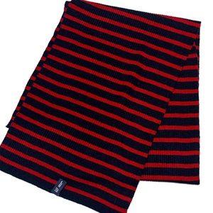 Gap Red & navy blue striped knit scarf